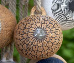 Garden Decorations From Junk   Garden Art/Garden Junk/Garden Decor / Hanging ornament from Flora ...