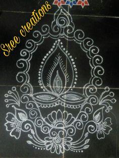Lotus Rangoli, Diya Rangoli, Rangoli Ideas, Indian Rangoli, Simple Rangoli, Beautiful Rangoli Designs, Kolam Designs, Cat Coloring Page, Coloring Pages