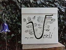 Dekorácie - Maľovaná poštová schránka - 5975549_