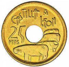 ATENCIÓN: Si tienes algunas de estas pesetas te pueden llegar a pagar hasta 20.000 euros! | LikeMag - Social News and Entertainment Old Money, World Coins, Rare Coins, Coin Collecting, Symbols, Retro, Vintage, Social, Nostalgia