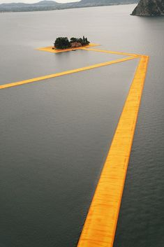 "archilovers: "" Ready to walk on water? Art installation Christo and Jeanne-Claude: The Floating Piers, connecting two small islands in Lake Iseo, will be on display from tomorrow, June 18, until July..."