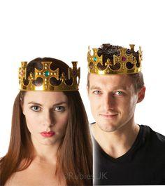 Kruunu jalokivillä. Tämä koristeellinen kruunu käy yhtä hyvin niin kuninkaille kuin kuningattarillekin.