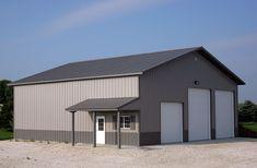 Metal Buildings Gallatin Tn and Metal Garage Buildings Installed. Metal Garage Buildings, Metal Garages, Shop Buildings, Steel Buildings, Pole Barn Garage, Rv Garage, Pole Barns, Garage Shop, Hobby Desk