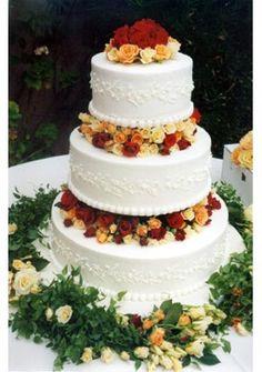 Wedding Cakes Pictures: Orange Roses Fall Wedding Cakes