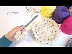 Crocheted Romashka knitting bag making 2 Part New - cantalarim - Crochet Round, Love Crochet, Crochet Flowers, Knit Crochet, Crochet Handbags, Crochet Purses, Crochet Bags, Crochet Crafts, Crochet Projects