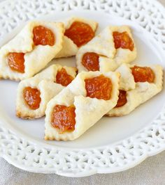 Traditional Hungarian Apricot Kolaches | My Hungarian husband's favorite Christmas Cookie recipe! He says they taste just like his grandma used to make!