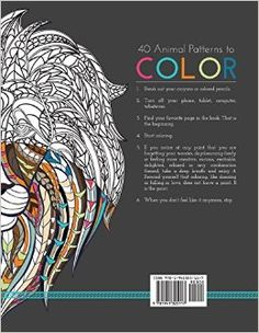 Stress Relieving Adult Coloring Book - Animal Designs. #adultcoloring #colour #coloringbook