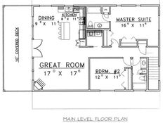 Traditional Floor Plan - Main Floor Plan Plan #117-535
