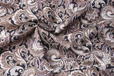 Stoff Baumwolle ST840 - Herrliches Paisley Design  von Stoffe-Borte auf DaWanda.com
