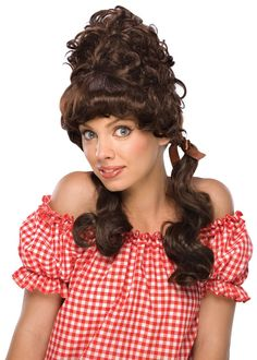Maryanne was the sweet little country girl, from Gilligan's Island. Mary Sanderson Costume, Buy Wigs Online, Little Country Girls, Hair Extension Shop, Costume Wigs, Costumes, Country Farm, Country Style, Costume