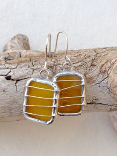 I made this earrings, love the color of the glass, hope you like it too