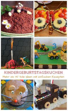 56 Besten Kindergeburtstagskuchen Bilder Auf Pinterest Bakken