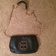 82621f446f1 Tory burch black cross body bag Slightly used Tory Burch Bags Satchels Black  Cross Body Bag