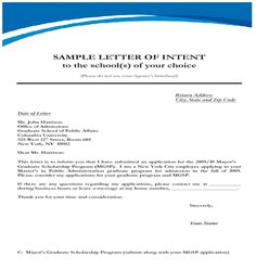 Printable Sample Letter Of Intent Template Form | Real Estate ...