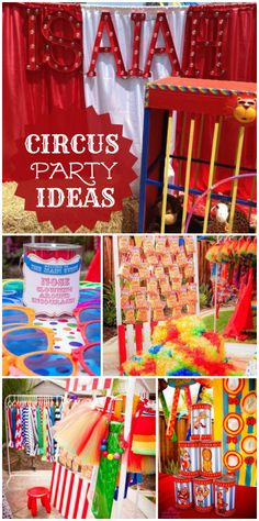 Step right up to this awesome circus themed boy birthday party!  See more party ideas at CatchMyParty.com!