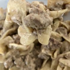 Fast and Easy Ground Beef Stroganoff is comfort food meant for kids! This dish has a creamy sauce with ground beef paired with the tender noodles. Ground Beef Crockpot Recipes, Healthy Beef Recipes, Beef Recipes For Dinner, Easy Recipes, Hamburger Recipes, Keto Recipes, Healthy Food, Yummy Food, Easy Dinner Ground Beef