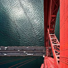 A different perspective of the 25 de Abril Bridge in Lisbon, Portugal. By Pedro Moura Pinheiro.