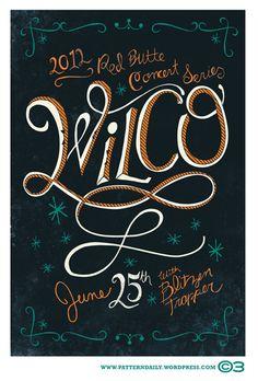 Wilco / Blitzen Trapper. Poster design: Courtney Blair (2012).