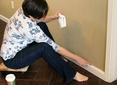 the lazy girl s secret to caulking baseboards, diy, home maintenance repairs, painting, tools, woodworking projects