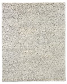 Double Diamond Moroccan Wool Rug - Silver // Living Room option