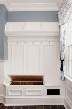 Inspirational Corner Mudroom Bench with White Shelves Front Door Narrow