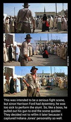 Funny pictures about Indiana Jones does whatever he wants. Oh, and cool pics about Indiana Jones does whatever he wants. Also, Indiana Jones does whatever he wants. Dc Movies, Great Movies, Movie Tv, Pixar Movies, Indie Movies, Action Movies, Harrison Ford, Movie Facts, Fun Facts