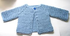 Crocheted Baby Sweater by Oiyi, via Flickr