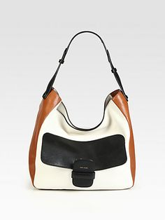 Marc Jacobs - Ivory Brighton Colorblock Hobo - Saks.com