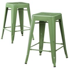 "Carlisle Metal 24"" Counter Stool - Copper (set Of 2)"
