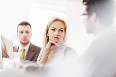 Woman listening in a meeting
