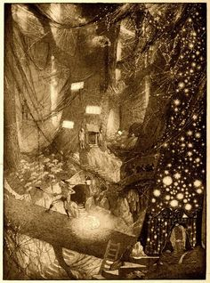 "The Ominous Cough, Sidney Sime, From Lord Dunsany's ""The Book of Wonder, a chronicle of little adventures at the edge of the world."" (1912)"