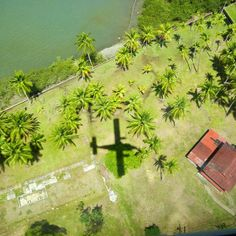 Flying into Golfito, Costa Rica on Nature Air #costarica #natureair #osa — Osa Peninsula, Costa Rica.