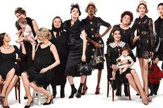 Dolce & Gabbana Fall/Winter 2015 Campaign (Dolce & Gabbana) [] In this picture: Monica Bellucci, Ashleigh Good,Esmerelda Seay Reynolds, Sora Choi, Tami Williams ; Credits for this picture: Domenico Dolce & Stefano Gabbana (Art Director)