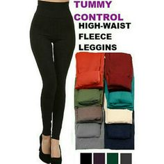 """TUMMY CONTROL FLEECE LEGGINGS GRAY PRICE IS FIRM   Shapewear Fleece Leggings High Waist and Tummy Control  This legging is designed to add warmth and style without bulkiness. Great with tunics, long sweaters, top extenders, flannel shirts, etc.  Polyester, Spandex  One size fits most but women size 3-12 is suggested  Waist: 24"""" unstretched  The total length is 38"""" and inseam is 26"""". Pants Leggings"""