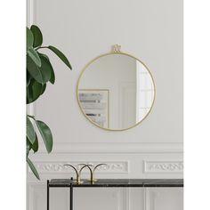 Randaccio mirror Ø70, brass – Gubi #interior #design #scandinavian