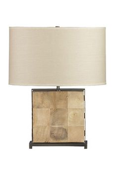 27 Bright Ideas For An Instant Home Upgrade #refinery29  http://www.refinery29.com/light-fixtures#slide1  Crate And Barrel Bryn Table Lamp, $399, available at Crate And Barrel.