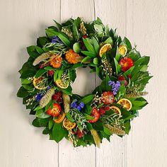 """Citrus Floral Wreath, 18"""""""