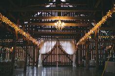 Dramatic Barn Wedding Lightin