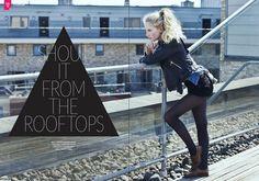 Samantha @ MOMODEL MANAGEMENT, shout it from the rooftops, En Vie Magazine, Photographer: Fabiana Delcanton