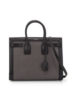 Classy as fuck: Sac+de+Jour+Small+Carryall+Bag,+Gray/Black+by+Saint+Laurent+at+Neiman+Marcus. Carry All Bag, Neiman Marcus, Shoulder Strap, Saint Laurent, Gray, Leather, Ysl, Shopping, Heaven