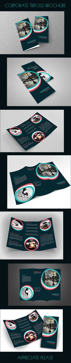 Corporate Trifold Brochure on Behance - I like the cover but the inside is a bit boring