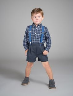 Blue Shepherd's Plaid Popover Shirt | Mi Pequeno Lucas | Made in Spain www.childrenchic.com