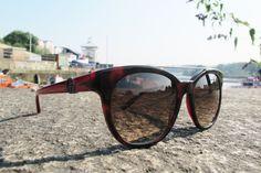 Emporio Armani Metal Bridge Sunglasses in Red Tortoise.