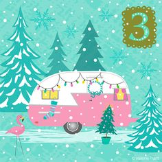 Advent Christmas Countdown ~ Dec 3rd  |  ValerieHart.com