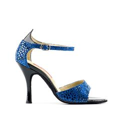 SANDALO #GLITTER #BLU 186_100/3, danza #tango argentino ----- GLITTER #BLUE SANDAL 186_100/3, argentinian tango dancing ----- #Paoul #danceshoes #dancingshoes #dance #shoes #womenshoes #argentiniantango #tangoargentino