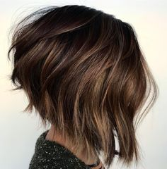 Angled Messy Bob with Fringy Ends