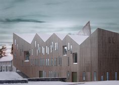 Reiulf Ramstad creates spiky roof for Romsdal Folk Museum in Norway