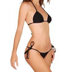 Micro #Brazilian #Bikini in Black! Whatta sexy and provocative bikini! Now available at http://riofitness.com.au