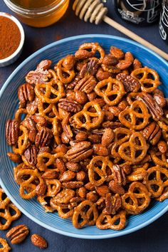 Pin for Later: 16 Homemade Trail Mixes For Very Happy Snacking Honey-Chipotle Nut and Pretzel Mix Get the recipe: honey-chipotle nut and pretzel mix