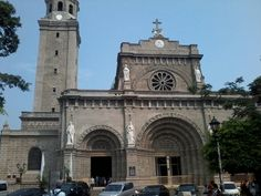 #ManilaCathedral Intramuros, Manila, San Francisco Ferry, Notre Dame, Cathedral, Building, Travel, Viajes, Buildings